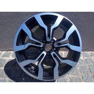 WSP Italy Febe 7,5 x18 ET54 5x112mm 57,1mm glanz schwarz - front poliert