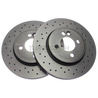 """Brembo """"XTRA"""" Bremsscheiben gelocht 09.A761.1X (280x22 mm - innenbelüftet) VA - Mini R55 R56 R57 R58 R59"""