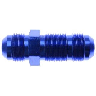 """Aluminium Bulkhead-Adapter blau AN10 D10 7/8-14"""" UNF - gerade"""