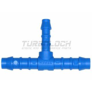 10-8-10 mm T-Stück Kunststoff (Polyamid) - blau