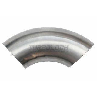 57mm x 2mm 90° Alubogen Aluminium Einschweissbogen (DIN 2605)