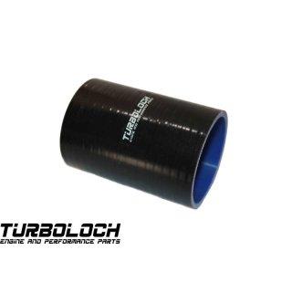 Ø 57mm / L:100mm = 10cm Silikonschlauch - schwarz