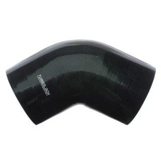 Ø 90mm / 60° Bogen / Silikonschlauch - schwarz