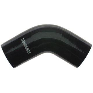 Ø 60mm / 60° Bogen / Silikonschlauch - schwarz