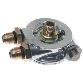 """Ölfilter Adapter mit Thermostat für externe Ölkühler - 3/4""""-16 UNF Gewinde D10"""