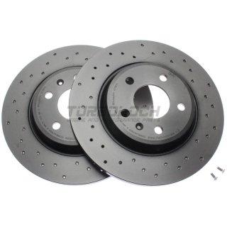 """Brembo """"XTRA"""" Bremsscheiben gelocht 08.A759.1X (300x12 mm) HA - Audi A4 (B8) A5 A6 A7 Q5"""