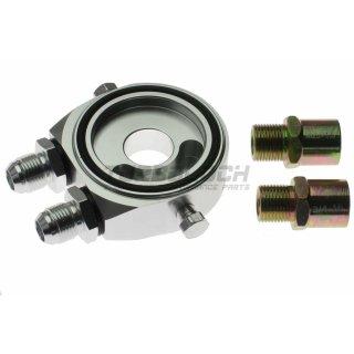 """Ölfilter Adapter mit 2 Sensoranschlüssen für externe Ölkühler - 3/4""""-16 UNF / M20x1,5 Gewinde D08"""