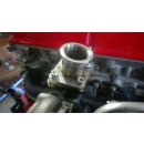 Adapterflansch Wastegate Audi S2 S4 RS2 auf TiAL MVR Edelstahl 1.4301