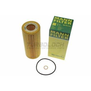 Ölfilter - Mann HU 721/4x - BMW E46 E53 E63/64 E65/66 E70 E71/72 E83 E90-93 (M57 6-Zyl. Diesel)