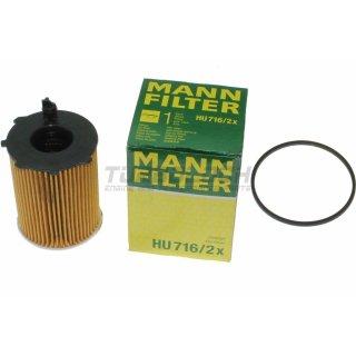 Ölfilter - Mann HU 716/2x - Citroen Fiat Ford Mazda Mini Mitsubishi Peugeot Suzuki Toyota Volvo