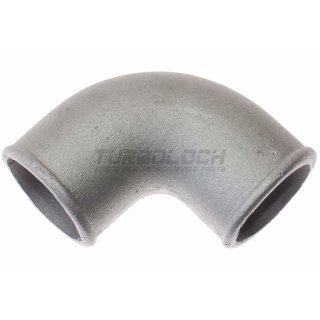 63,5mm x 4mm 90° Bogen Alubogen Aluminiumguss - enger Radius