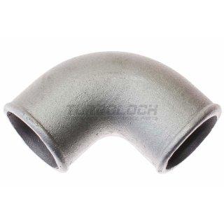 57mm x 4mm 90° Bogen Alubogen Aluminiumguss - enger Radius