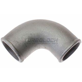 50mm x 4mm 90° Bogen Alubogen Aluminiumguss - enger Radius