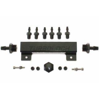 Unterdruck- / Druckverteiler - Aluminium - 6x M10x1 / 2x M20x1,5