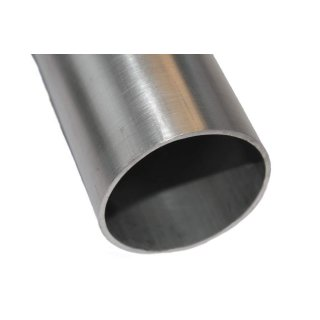 0,5m x 45mm x 2mm Alurohr Aluminium Rohr Ladeluftrohr EN AW-6060
