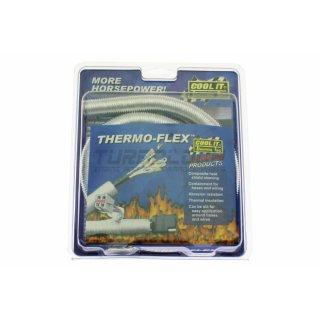 ThermoTec 17062 Hitzeschutzummantelung Thermo Flex (Silber) - Ø innen: 16mm L: 91cm