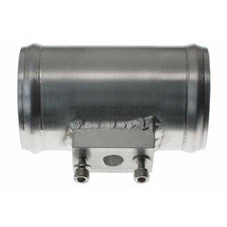 70mm Aluminium Rohr mit 12mm Ladedrucksensoranschluss