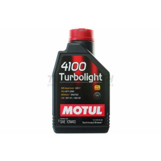 Motul 4100 Turbolight 10W40 1L - Technosynthetisches Motoröl (102774)