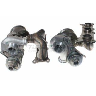 2x Turbolader Mitsubishi TD03L4W (4913107041N/031N) - BMW 335i E90/91/92/93 (Biturbo N54B30) Zyl. 1-3/4-6