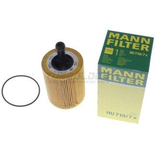 Ölfilter - Mann HU 719/7x - VAG 1.2-2.5 TDI / 2.3 2.5 V5 / 2.8 3.2 3.6 V6 Ford Jeep Dodge Mitsubishi Chrysler