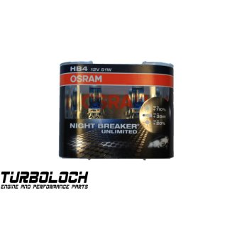 2 Stück Osram HB4 Night Breaker Unlimited Glühlampe 9006NBU