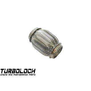Edelstahl Flexrohr Rohrverbinder 40mm L: 100mm Interlock